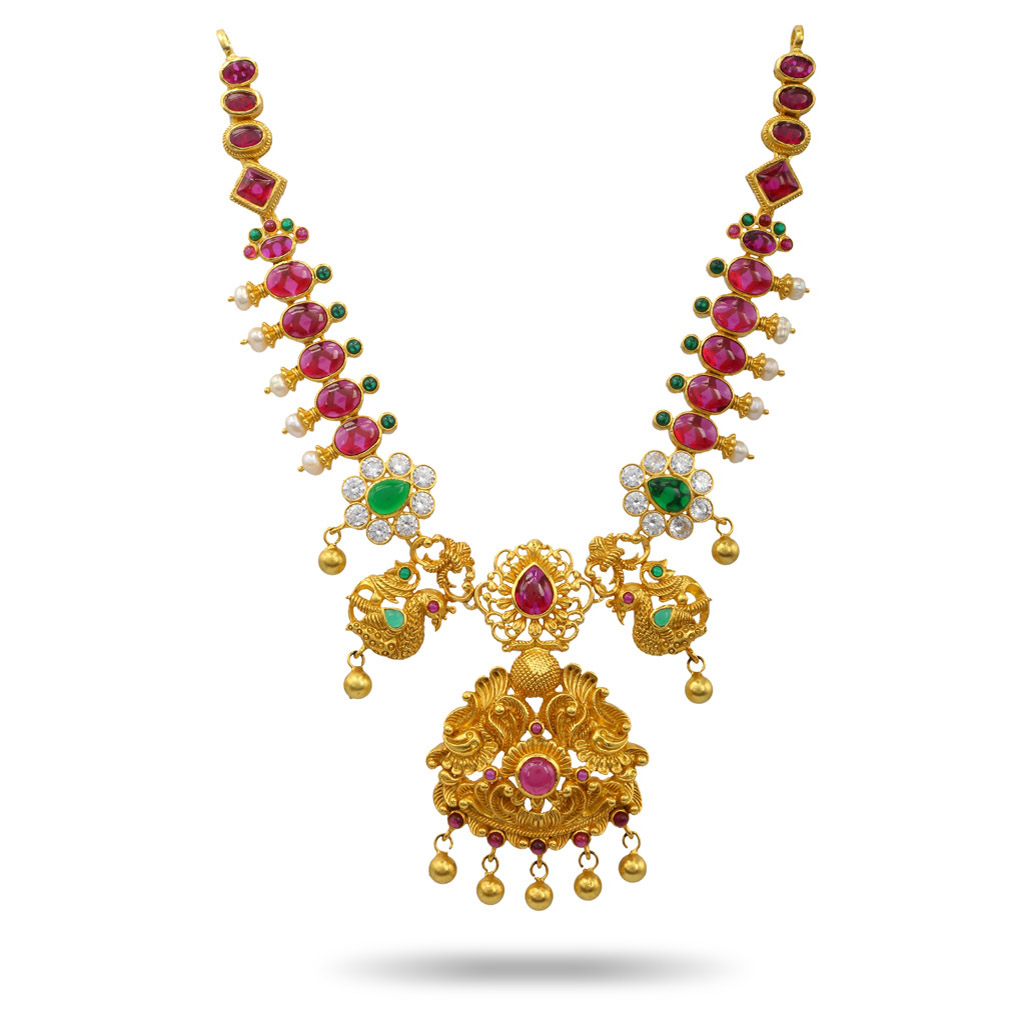 Varsha silver necklace