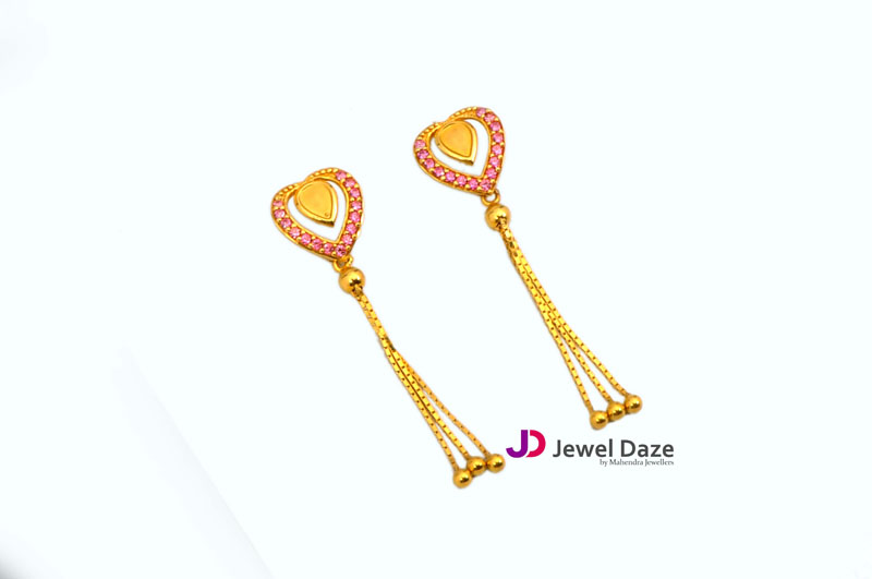 Gold Heart Shaped Hanging