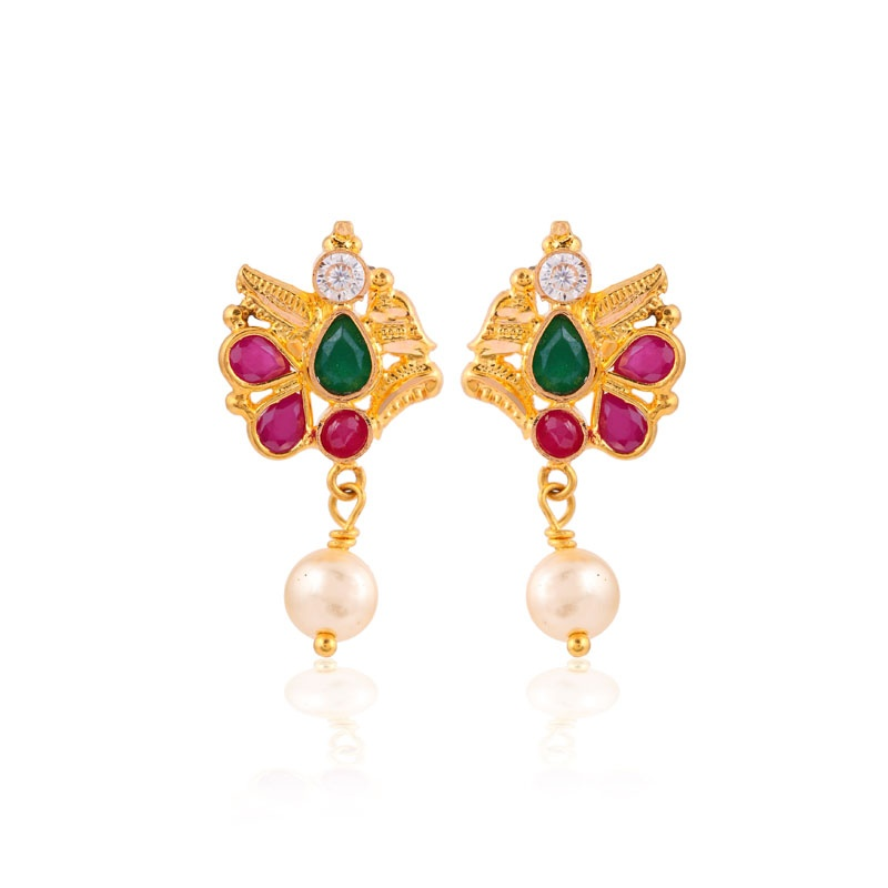 Aaradhya gemstone stud earrings