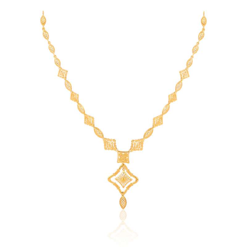 Eliza gold necklace