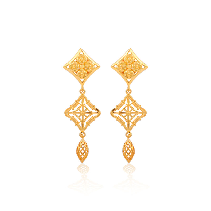 Eliza gold drop earrigs
